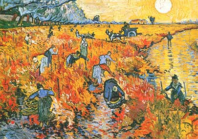 Les vignes rouges d'Arles